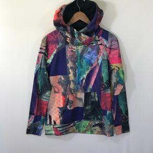 Burton Vibrant Color Print Hoodie Size Large